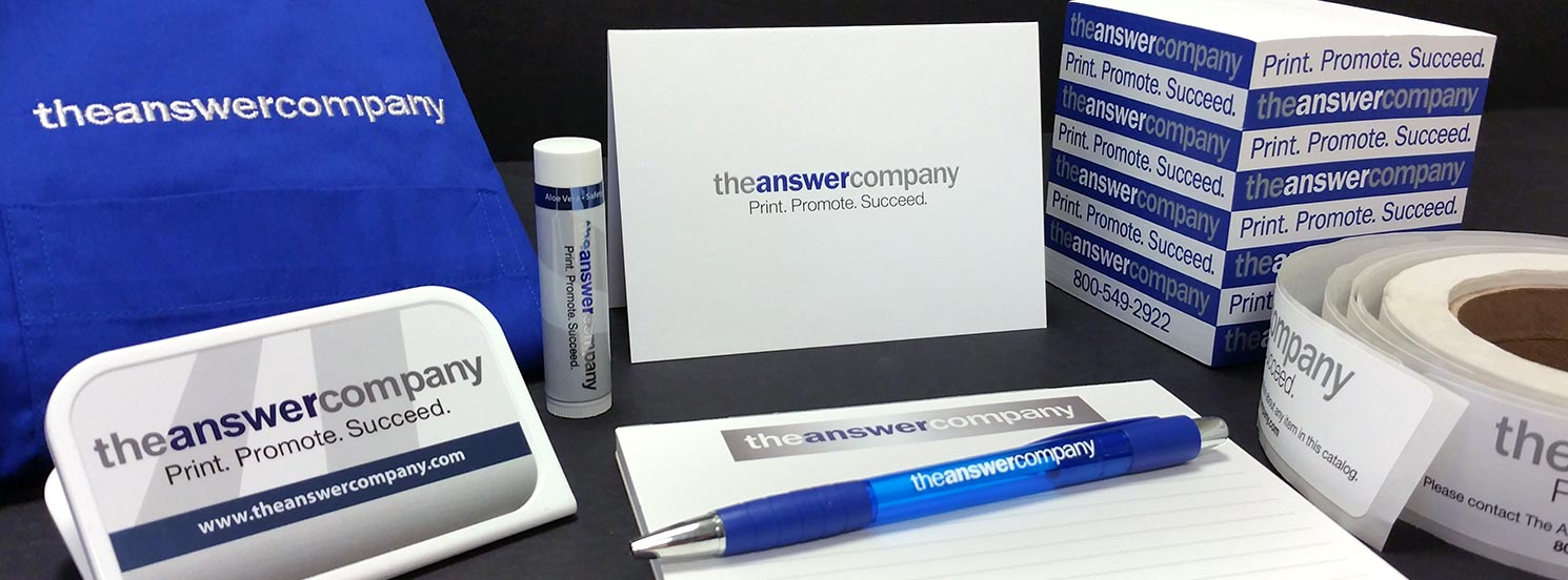 The Answer Company provides businesses with high quality print and promotional materials allowing them to print, promote, and succeed.