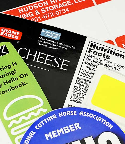 Labels, Stickers, & Tags of any shape, size, and purpose